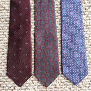 Lots of 3 Harve Benard Silk Ties Neckties
